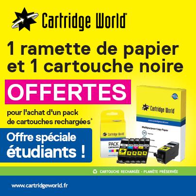 1 ramette et 1 cartouche noire offerte - Cartridge World Roanne