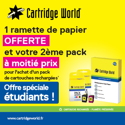 Offre étudiants - Cartridge World Roanne